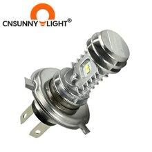 CNSUNNYLIGHT 1 stücke 1080LM Super Helle H4 Moto LED Scheinwerfer Kit P43t HS1 BA20D H6 Motorrad Scheinwerfer Roller Umwandlung Lampen 12