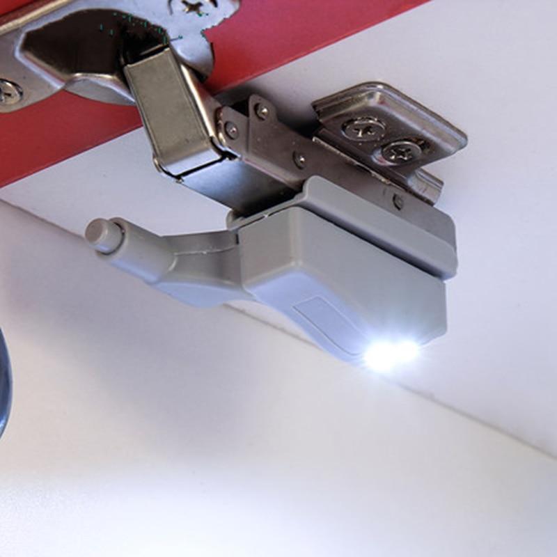 4pcs! 0.25W LED Inner Sensor Cabinet Hinge Light For Bedroom Living Room Cupboard Closet Wardrobe Night Light White Warm White