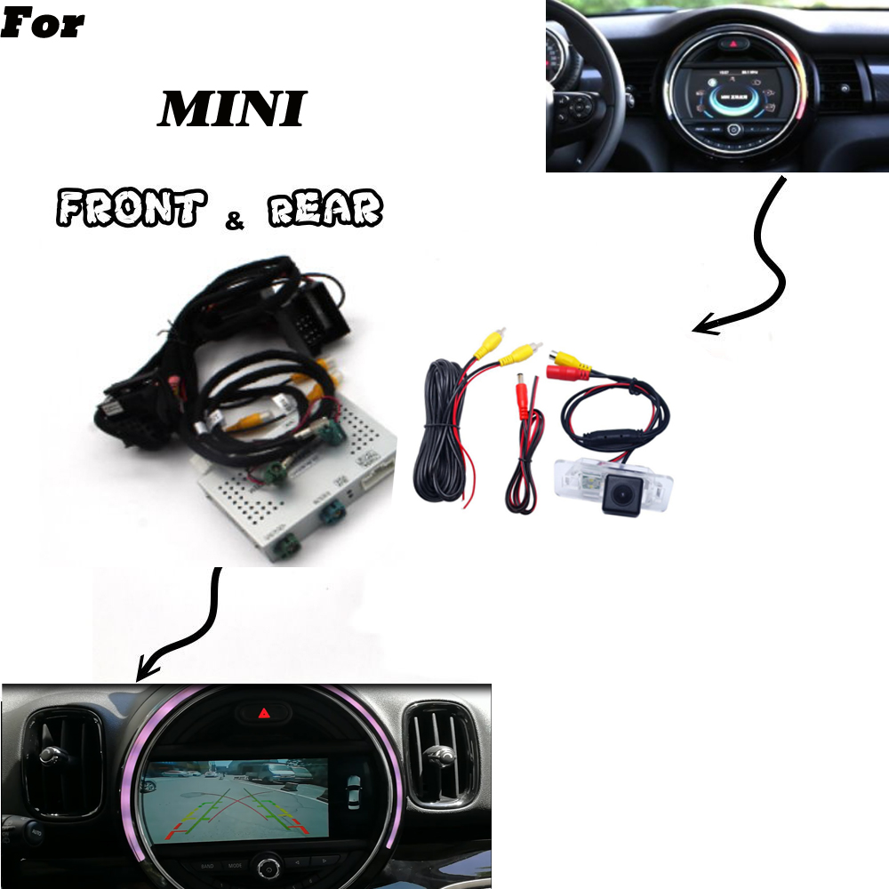 Rear Camera For MINI Clubman/ Clubvan R55/ Countryman R60 Parking Front Bakcup Reversing Camera Interface Original Display Decod