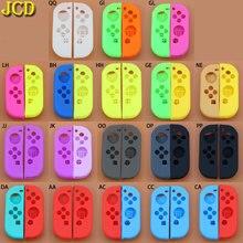 Capa de silicone macio para nintendo switch, joy con, substituição de carcaça para switch ns joy, 1 conjunto con controlador de controlo