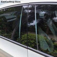 Für Toyota Camry 2021 2020 2019 2018 2006 2016 Auto Tür Fenster Mittleren Spalte Trim Dekoration Schutz Streifen Schwarz PC Aufkleber
