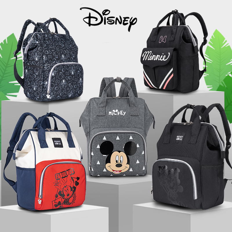 Disney Baby Diaper Bag Backpack Large Capacity Nappy Waterproof Maternity Baby Bag For Mummy Maternity Nappy Backpack For Mum