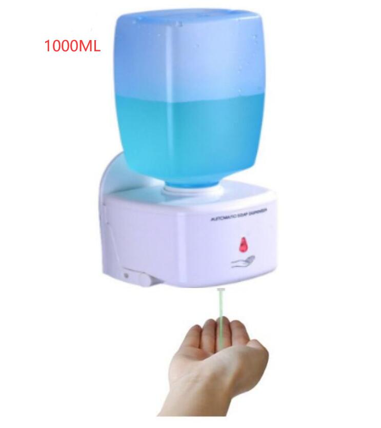1000ML Automatic Sensor Hand Sanitizer Soap Dispenser Alcohol Sterilizer Touchless Wall Mounted With 1000ML Replaceable Bottle