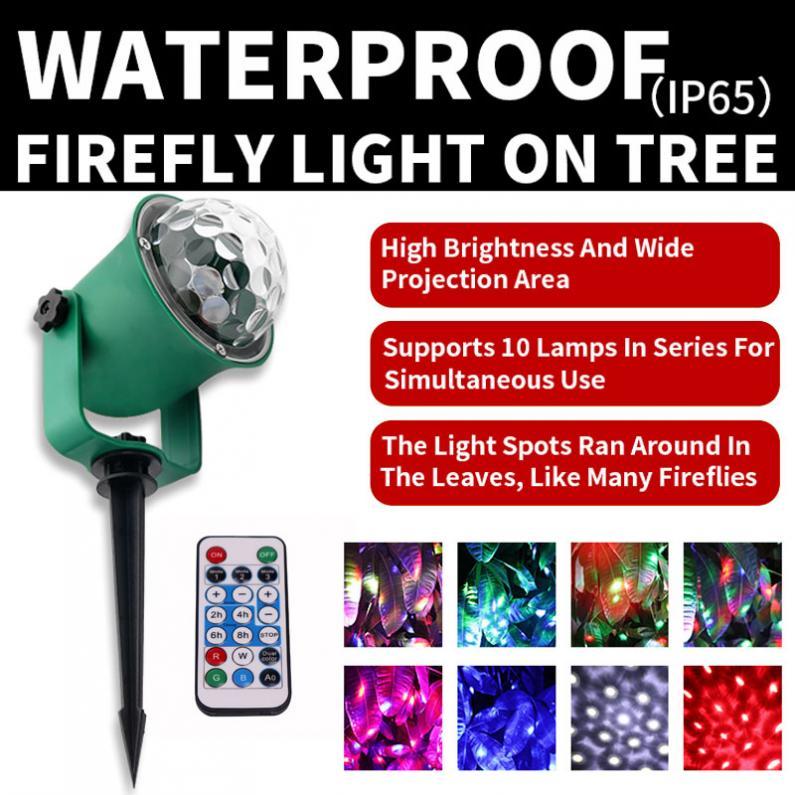 wl 806 luz da arvore a prova dwaterproof agua com controle remoto efeito firefly decorativo ao