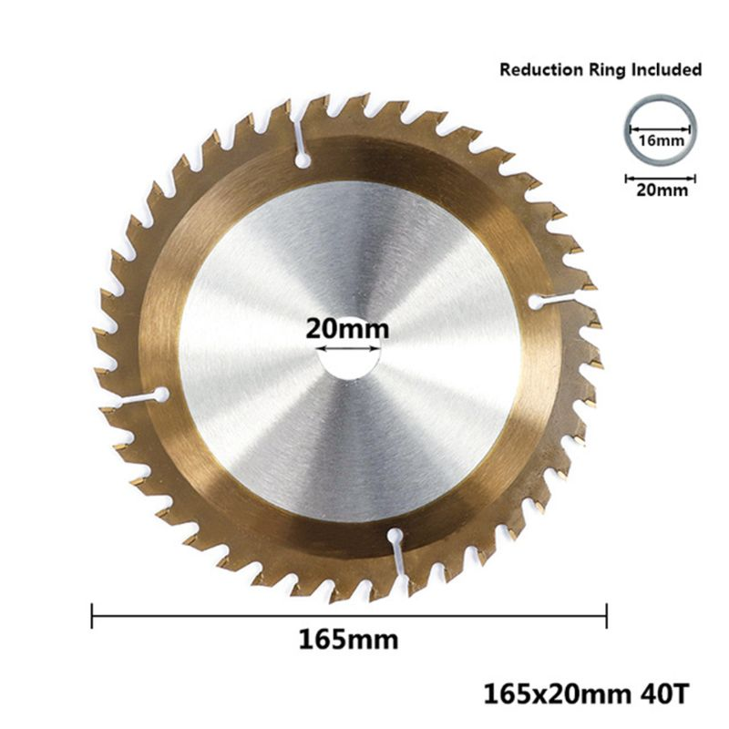 160/165/185mm Wood TiCN Coated Circular Saw Blade 24/40/48/80T Cutting Disc D5BD