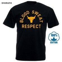 T-shirts de manga curta da forma dos homens da forma do homem do projeto do suor do sangue da rocha