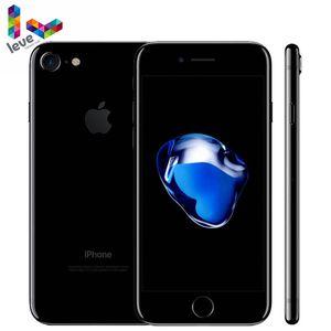 Разблокированный мобильный телефон Apple iPhone 7, 4G LTE, оригинальный iOS, 2 Гб ОЗУ 32/128/256 Гб ПЗУ, 12 МП, четырёхъядерный, сканер отпечатка пальца