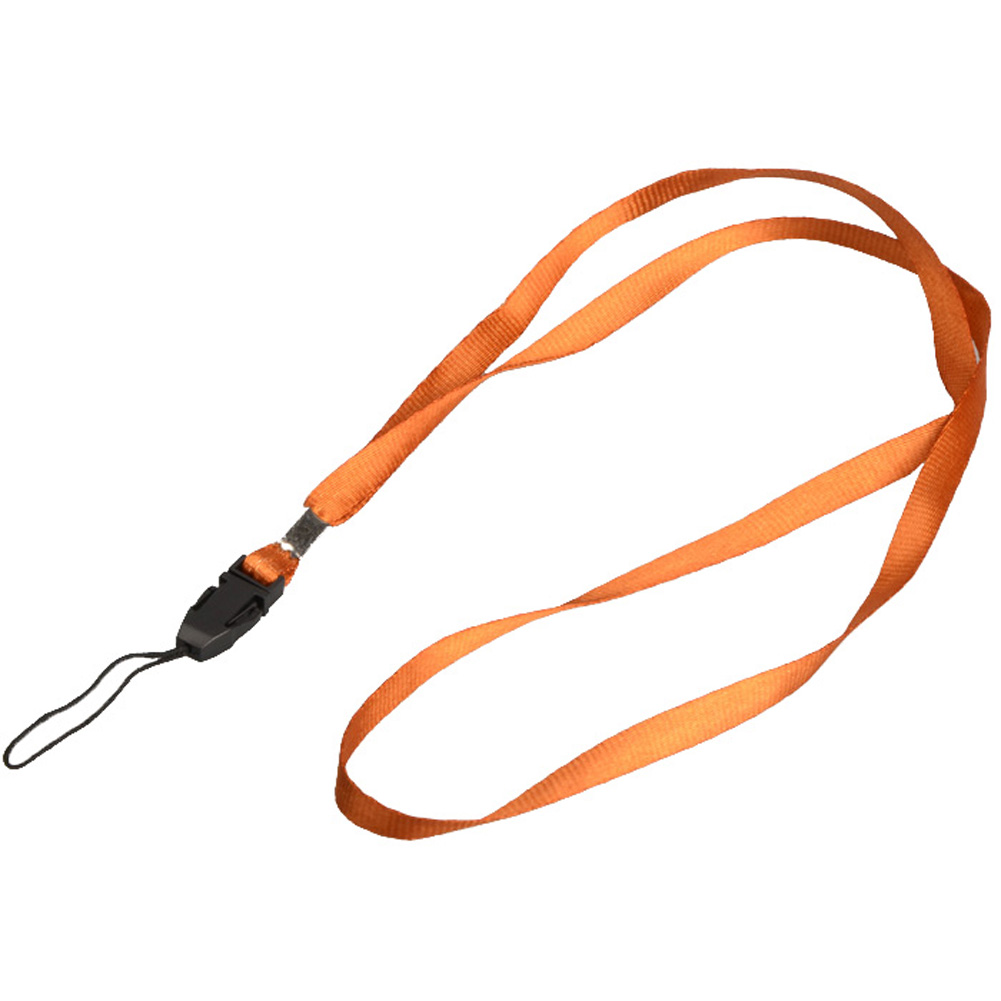 1 шт., ремешок для телефона на шею, для удостоверения личности, пропуска, значка, ключ для спортзала/держатель для мобильного телефона, USB, сделай сам, веревка, Лариат, ремешок - Цвет: Orange