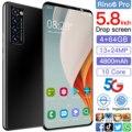 Rino6 pro 5,8 дюйма 4 + 64 ГБ 10 Core 4800mAh Andriod 10 Мобильный телефон Face ID смартфоны мобильные телефоны с двумя сим-картами 13 + 24 Мп телефона Andriod