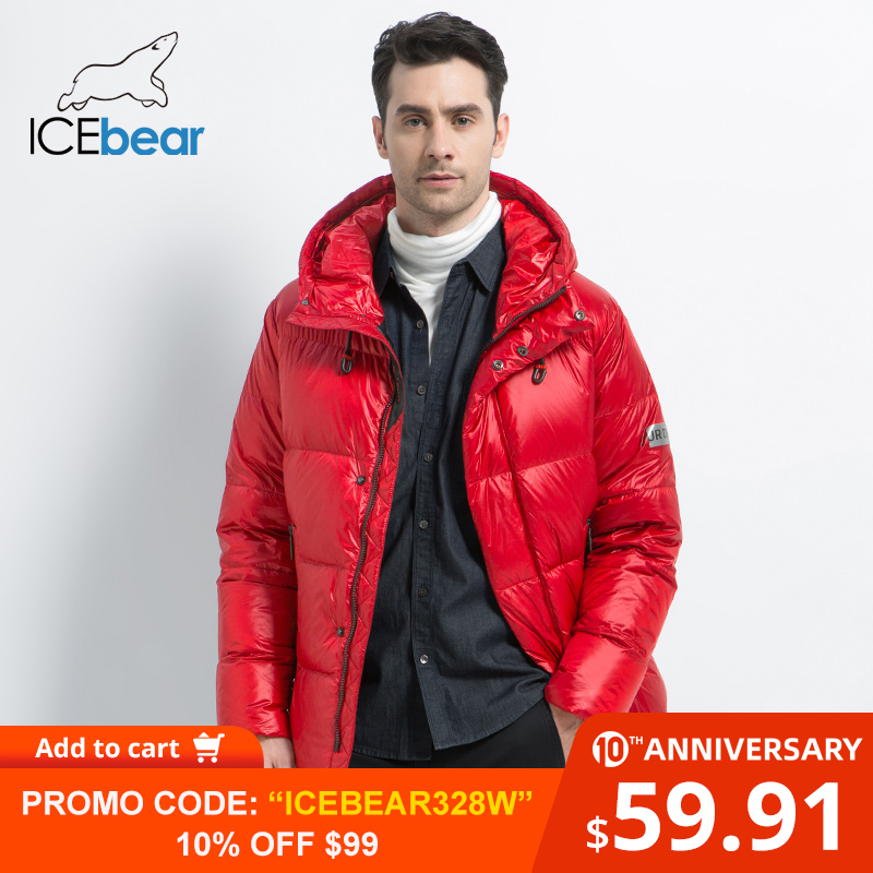 ICEbear 2019 New Winter Men's Down Jacket Stylish Male Down Coat Thick Warm Man Clothing Brand Men's Apparel MWD19867I
