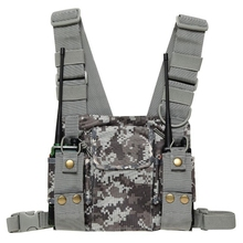 Airsoft Radio Shoulder Holster Vest Tactical Chest Harness Holder Chest Rig Vest for Hunting Paintball