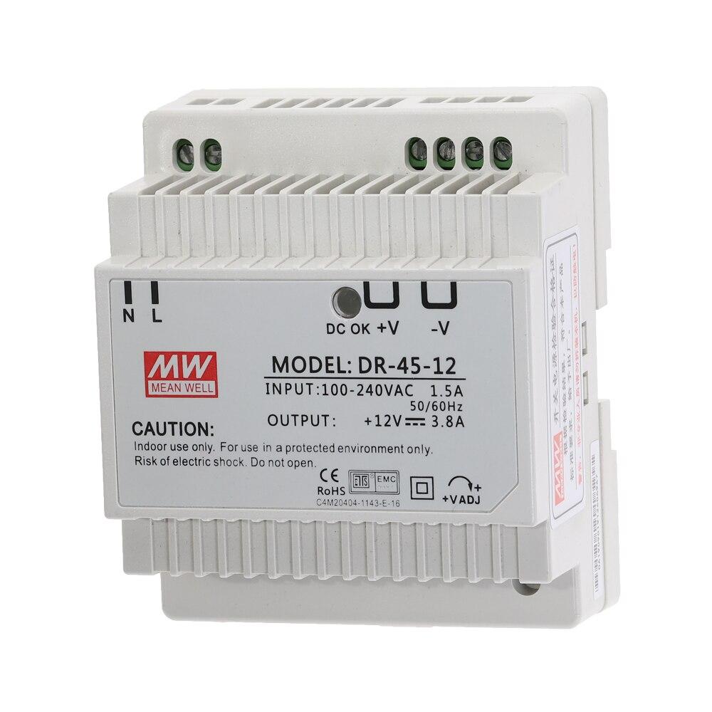 DR-15 DR-45 DR-60 15W 45W 60W Single Output 5V 12V 15V 24V Industrial Din Rail Switching Power Supply DR-15/45/60-5/12/15/24-1
