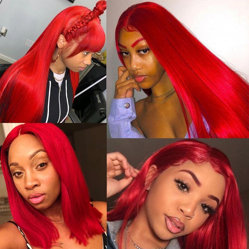 Image 5 - 99J Colored Straight Hair 3/4 Bundles Red Human Hair Bundles Brazilian Honey Blonde Bundles Red Hair Bundles Pinshair Remy HairHair Weaves   -