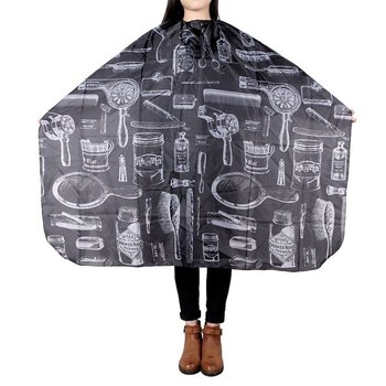 Pattern Cutting Hair Waterproof Cloth Salon Barber Cape Hairdressing Hairdresser Apron Haircut capes 1 pcs random color best new sketch hair salon cutting barber hairdressing cape for haircut hairdresser apron cutting hair capes