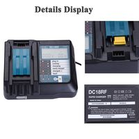 Hot 3C 14.4V 18V Li Ion Battery Charger Voltage Current Lcd Digital Display For Makita Dc18Rf Bl1830 Bl1815 Bl1430 Dc14Sa Dc18Sc|Chargers| |  -