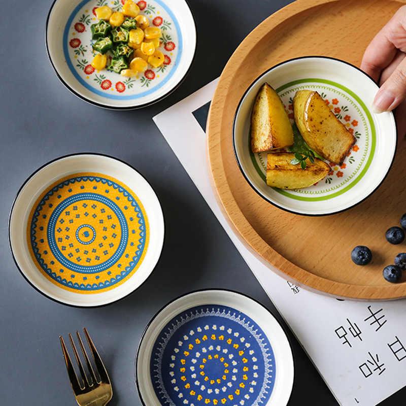 Stainless Seasoning Dish Sauce Vinegar Sugar Spice Dipping Bowl Saucer Dish Z