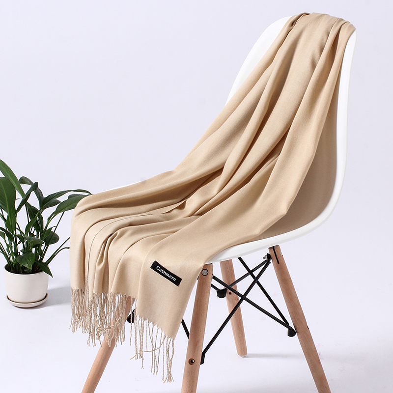 2020 Winter Scarf For Women Cashmere Scarves Lady Shawls And Wraps Warm Female Pashmina Bandana Pure Color Hijabs