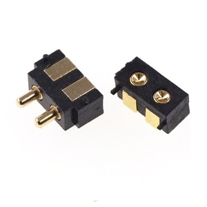 Image 2 - 50 шт. пружинный разъем Pogo pin, 2 контактный прямоугольный поверхностный монтаж SMD полоса, штекер, гнездо, вогнутый SMT шаг 2,5 мм