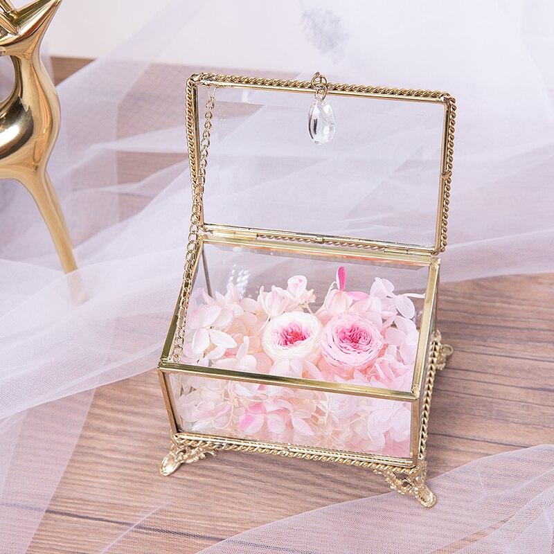 Verre bijoux boîte de rangement bijoux présentoir bijoux cosmétique boîte de rangement Style moderne
