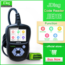 цена на JDiag JD316 OBD2 Scanner Automotive Engine Fault Code Reader CAN Diagnostic Scan Tool (Black)