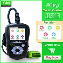 JDiag JD316 OBD2 Scanner Automotive Engine Fault Code Reader CAN Diagnostic Scan Tool (Black)