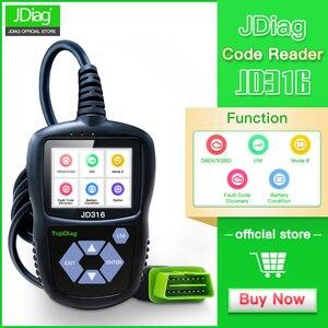 JDiag JD316 OBD2 Scanner Autom