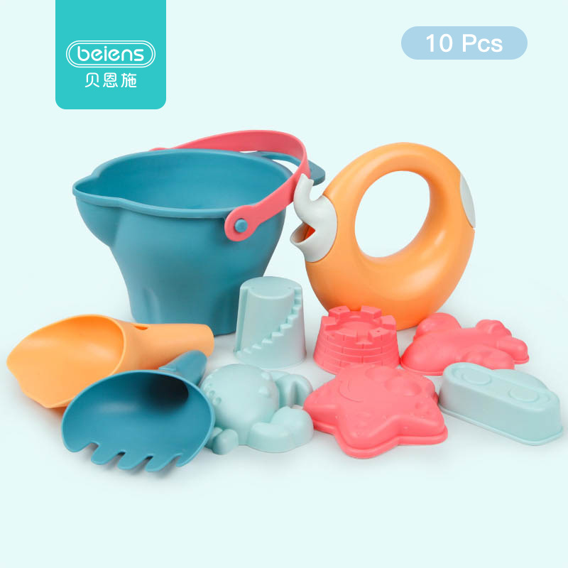 Beiens Beach Toys For Kids 5-14pcs Baby Beach Game Toy Children Sandbox Set Kit Summer Toys For Beach Play Sand Water Play Cart