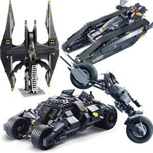 7105 Lepining Batman The Tumbler Batmobile Batwing Joker Cars Building Blocks Bricks Kids Toys Christmas Gifts