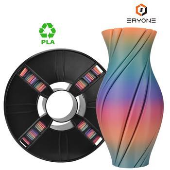 Eryone Rainbow Silk PLA Filament 1kg Multicolor Filament Perfect Spooled (1KG 2 2lbs)- 1 75mm szybka wysyłka tanie i dobre opinie CN (pochodzenie) Z jednego materiału 335 metrów ROHS Reach Support Standard PLA