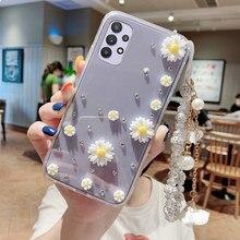 For Samsung Galaxy A32 A72 A42 A52 5G A02S Case Cover A12 M31 A21S M51 M30S M21 A01 A51 A71 Shockproof Bumper Glitter Phone Case
