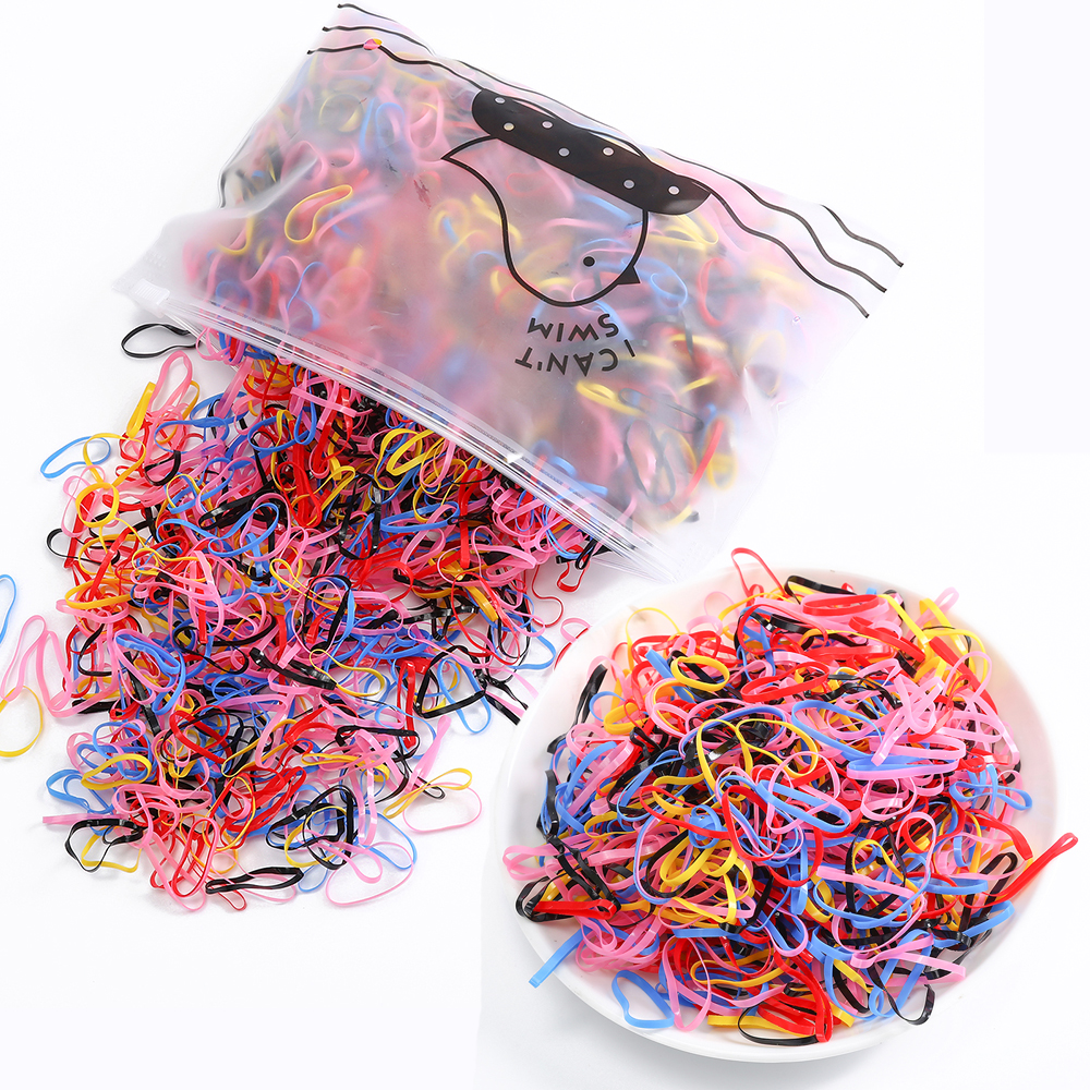 250/1000PCS Ponytail Holder Elastic Hair Band Hair Holder Rubber Hairband Hair Accessories For Girls Rope Tie Gum