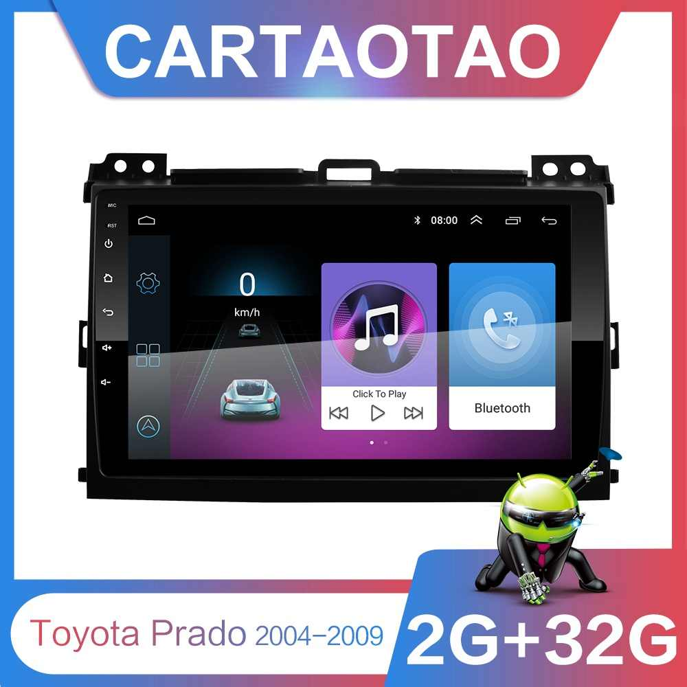 "2G + 32G 9 ""2din Android 8.1 GO Car DVD Player สำหรับ Toyota Land Cruiser Prado 120 2004-2009 วิทยุนำทาง GPS WIFI Player"