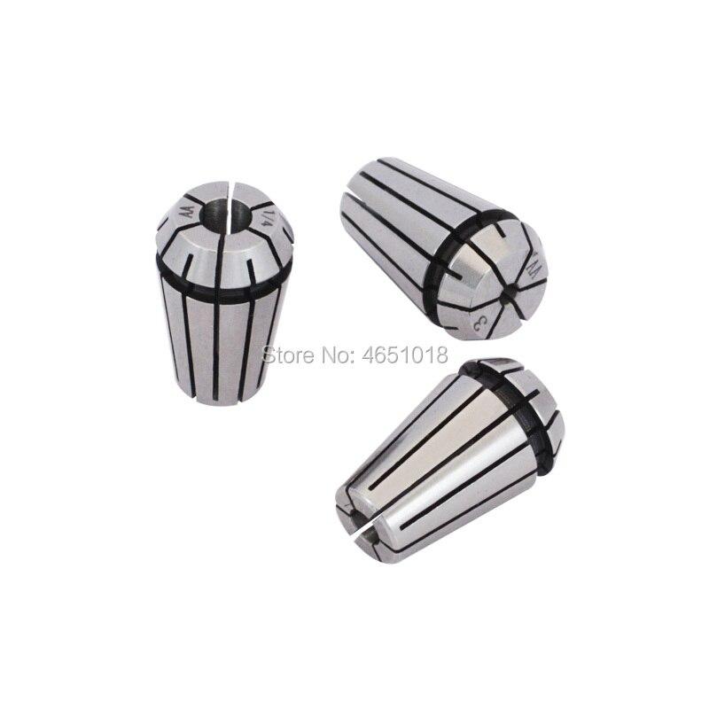 Купить с кэшбэком AA ER16 Elastic Cylinder Clamp ER16 High Precision Inner Hole 1-10mm Spring Sleeve Engraving Machine Clamp Precision 0.008mm