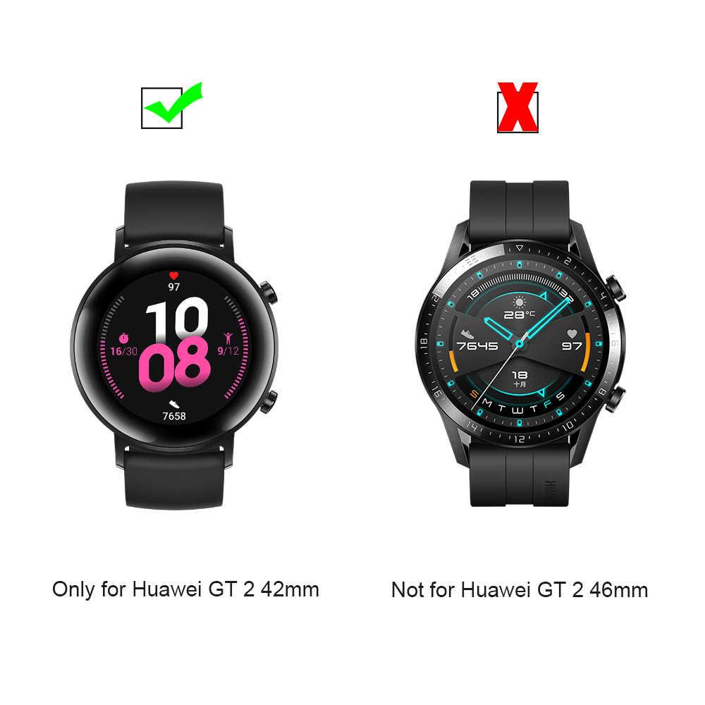 Nuovo 3D Pieno Edge di Alta Qualità In Fibra Di Vetro Pellicola Protettiva Astuto della vigilanza di Accessori di Protezione Dello Schermo Per Huawei GT 2 Orologio 42 millimetri