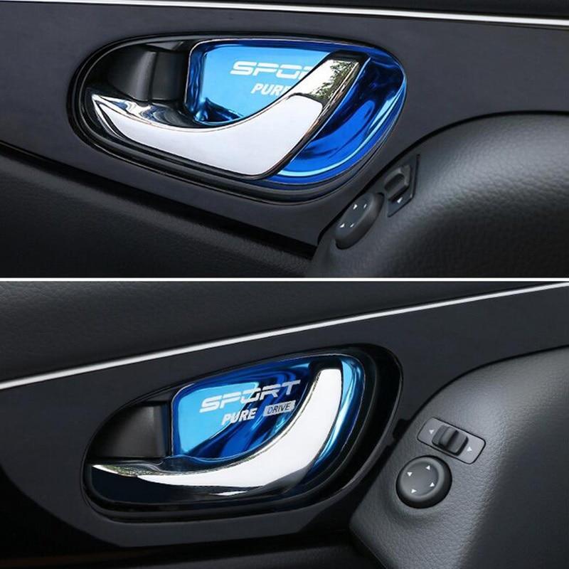 Автомобильные аксессуары для X trail T32 Rogue Xtrail 2015 2016 2017 2019 двери автомобиля внутренняя ручка крышка чаши патч стикер carstyling
