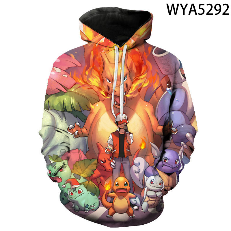 2020 New Fashion Games Pokemon 3D Printed Hoodies Cool Sweatshirts Men Women Children Fashion Pullover Boy Girl Kids Coat 2
