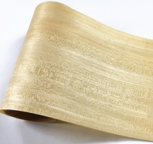 1Piece 2.5Meter Width:15cm Thickness:0.25mm Solid Wood Veneer Loudspeaker Kin