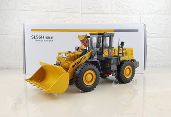 Rare Collectible Alloy Model 1:35 Scale Shantui SL56H Wheel Loader Engineering Machinery Diecast Model Toy for Decoration