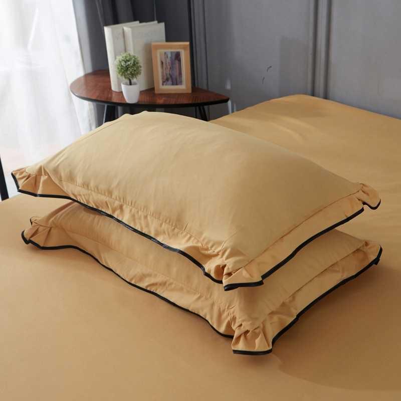 Yaapeet تنورة نوم المفرش أنيقة الساتان غطاء سرير قطن للزينة الزفاف غطاء السرير ملاءات السرير الملك تنورة نوم