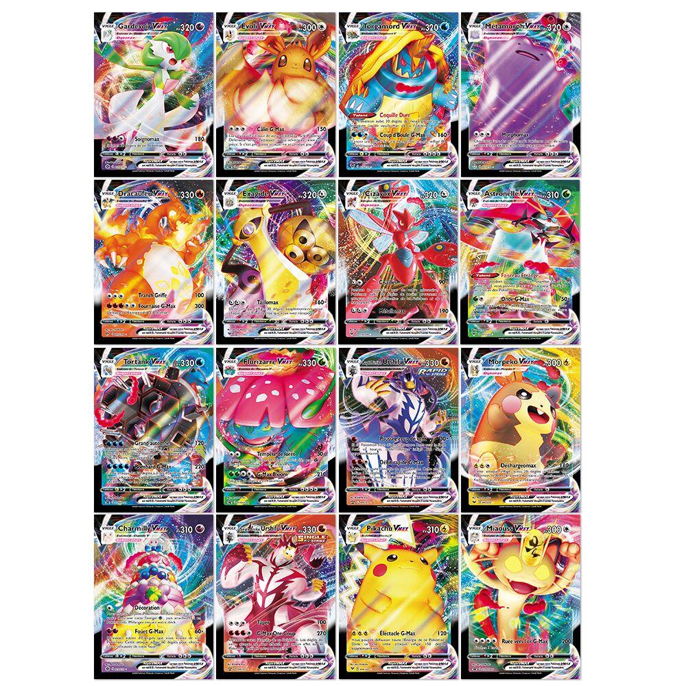 20 шт. французская версия карты Pokemon V GX MEGA TAG команда EX игровая Боевая карта