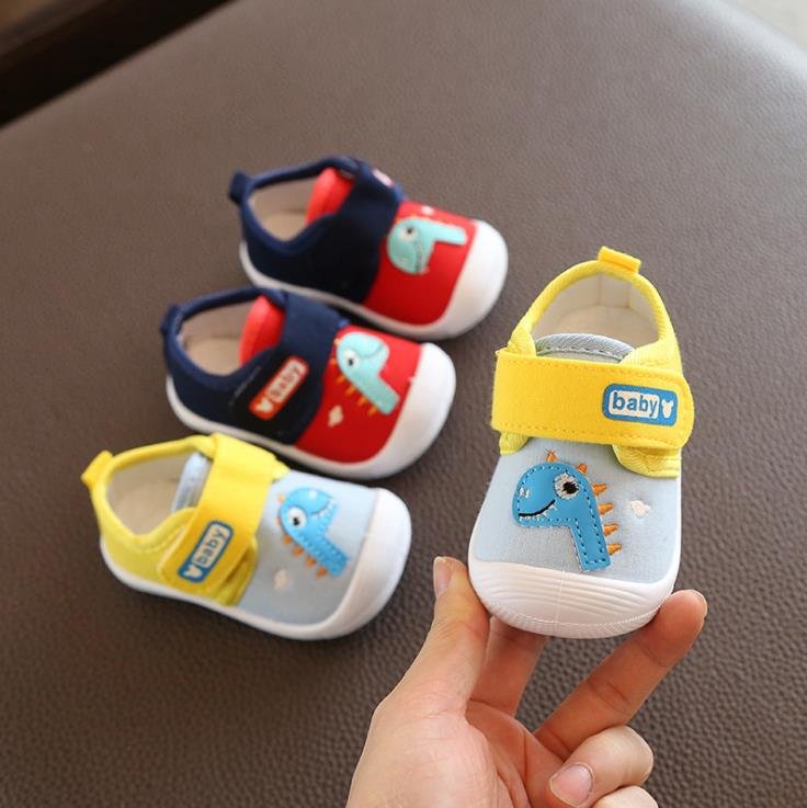 Spring Autumn Baby Girls Boys First Walker Kid Girl Infant Toddler Dinosaur Shoes 16-21 0-2years A-23 TX09