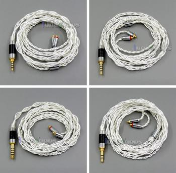 LN006003   Pure Silver Shielding Earphone Cable For MMCX Plug Shure se535 se846 se215 Earphone cable