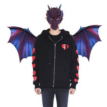 Fantasy Halloween Dinosaurio Dragon Costume Cosplay Animal Mask Wing Accessory Cosplay Party Tools versieringen voor feest(China)