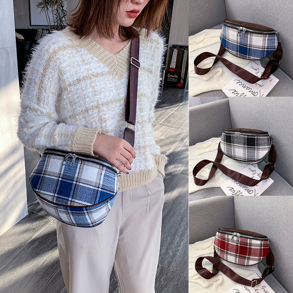 2020 Women Waist Bag Fashion Solid Color Waist Bags Cute Pattern Canvas Chest Bag Pocket Fanny Pack Bum Bag Сумка Поясная