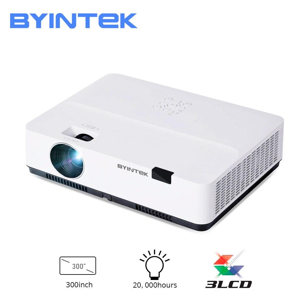 BYINTEK 3LCD Projektor K400 ,3300ANSI, Volle HD 1080P Video Projektor 4K,LED 3D lAsEr Projektor für 300inch Kino Bildung