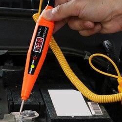 Display digital caneta teste de circuito elétrico do carro testador tensão detector automotivo medidor de tensão automóvel sonda lâmpada teste caneta