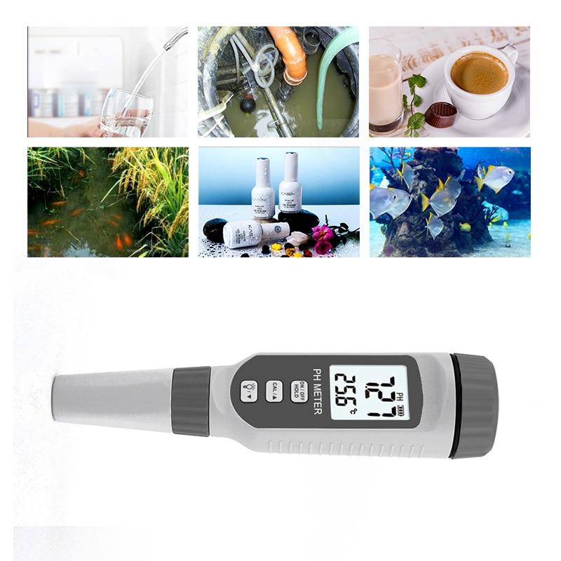 PINTUDY Digital PH Meters Tester Pen Type PH Water Quality Tester PH Acidity Meter PH818 Analyzers Instruments Digital 2019 New