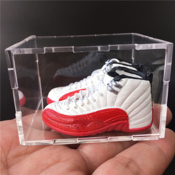 For Dropshipping and Wholesale 3D Mini Sneaker Keychains Mini Shoe Keyrings Phone Strap 1