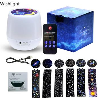 Novelty LED Lamp Rotating Colorful Projector Star Sky Night Light Romantic Atmosphere Lamp Decoration Lamp for Party