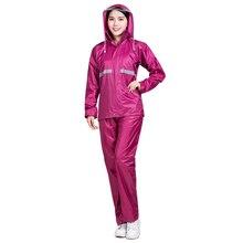 Непромокаемый дождевик Rainfreem для женщин и мужчин, Двухслойное капюшон от дождя пальто, мотоциклетная одежда, пончо для кемпинга, дождевик